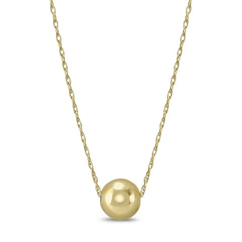 10K Yellow Gold 6MM Ball Necklace