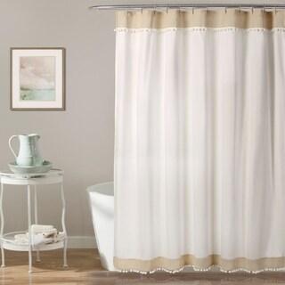 Lush Décor Adelyn Pom Pom Shower Curtain