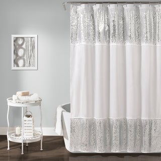 Lush Décor Shimmer Sequins Shower Curtain