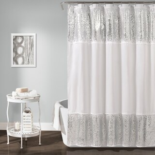 Lush Decor Shimmer Sequins Shower Curtain