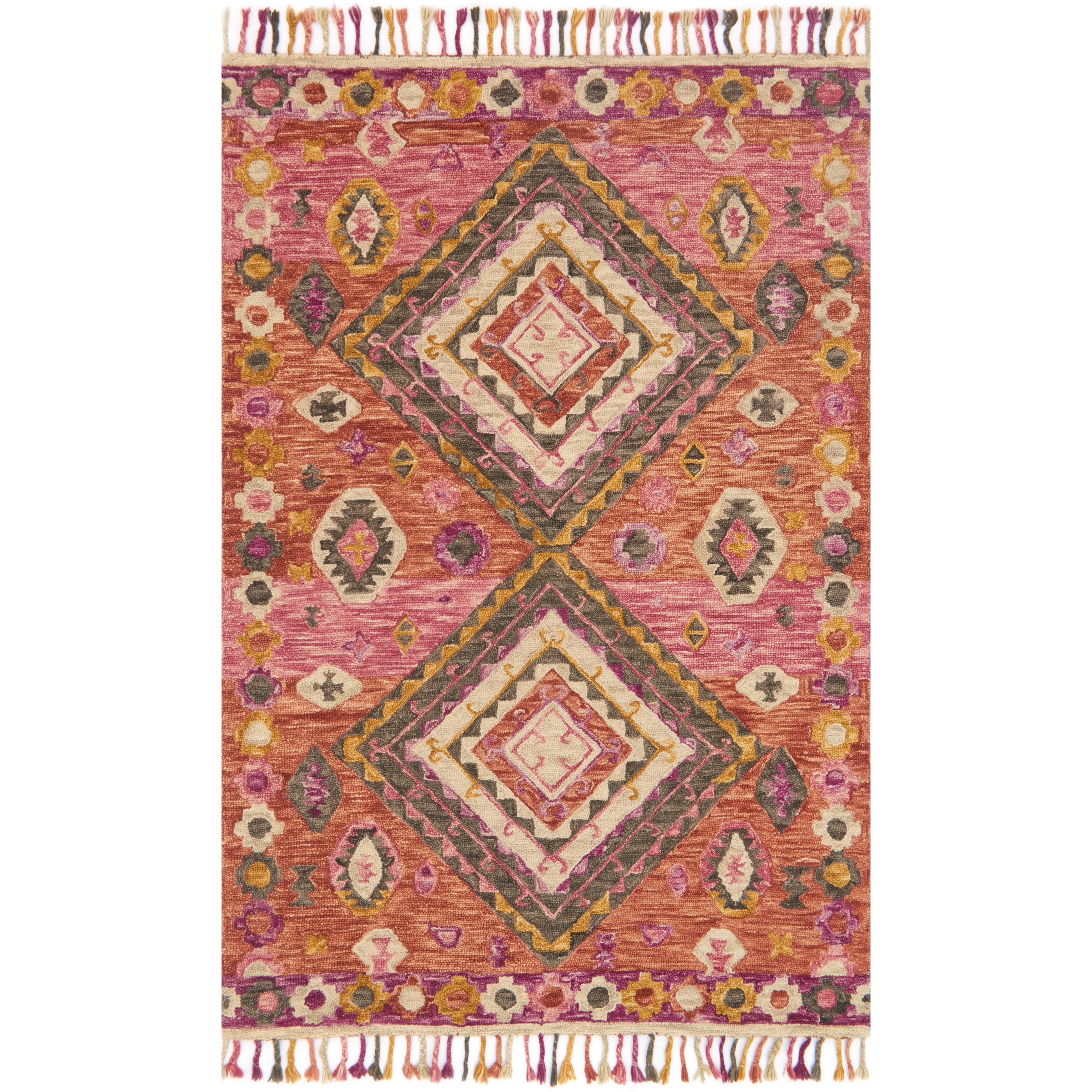 Alexander Home Sonnet Pink/Multi Wool Hand-hooked Rug - 5 x 76 (Fiesta - 5 x 76)