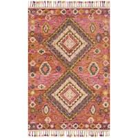 Alexander Home Sonnet Pink/Multi Wool Hand-hooked Rug - 5' x 7'6