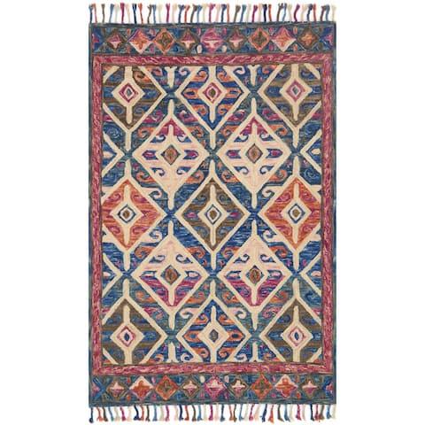 Alexander Home Sahara Moroccan Tribal Hand-Hooked Wool Area Rug
