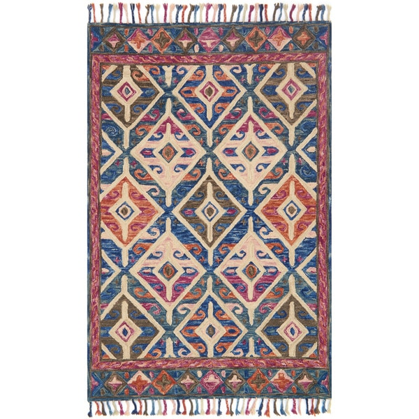 Alexander Home Sahara Moroccan Tribal Hand-Hooked Wool Area Rug. Opens flyout.