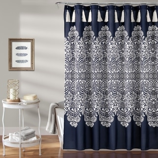 Lush Décor Boho Medallion Shower Curtain