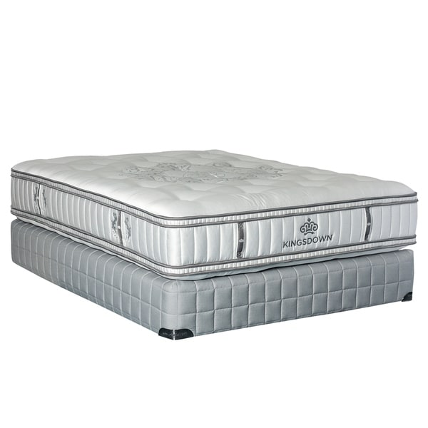 kingsdown diamond royale opulence ii all natural 165inch queen eurotop mattress set free shipping today