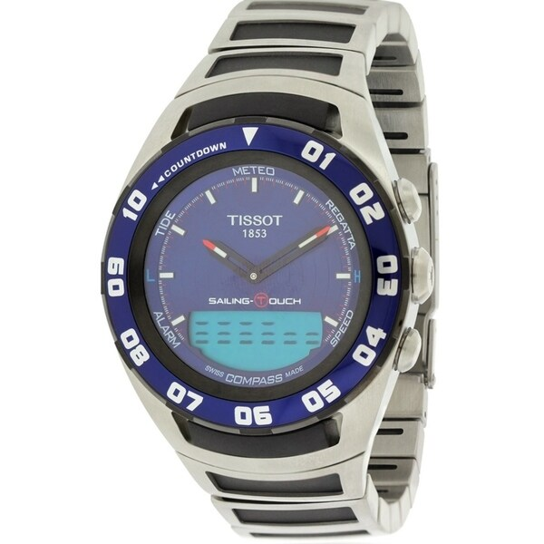 a3c3db58fcdf Shop Tissot Sailing Touch Chronograph Stainless Mens Watch T0564202104100 -  Free Shipping Today - Overstock.com - 17374680