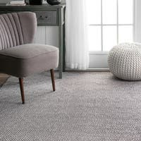 nuLoom Diamond Grey Cotton Handmade Flatweave Rug (10' x 14')