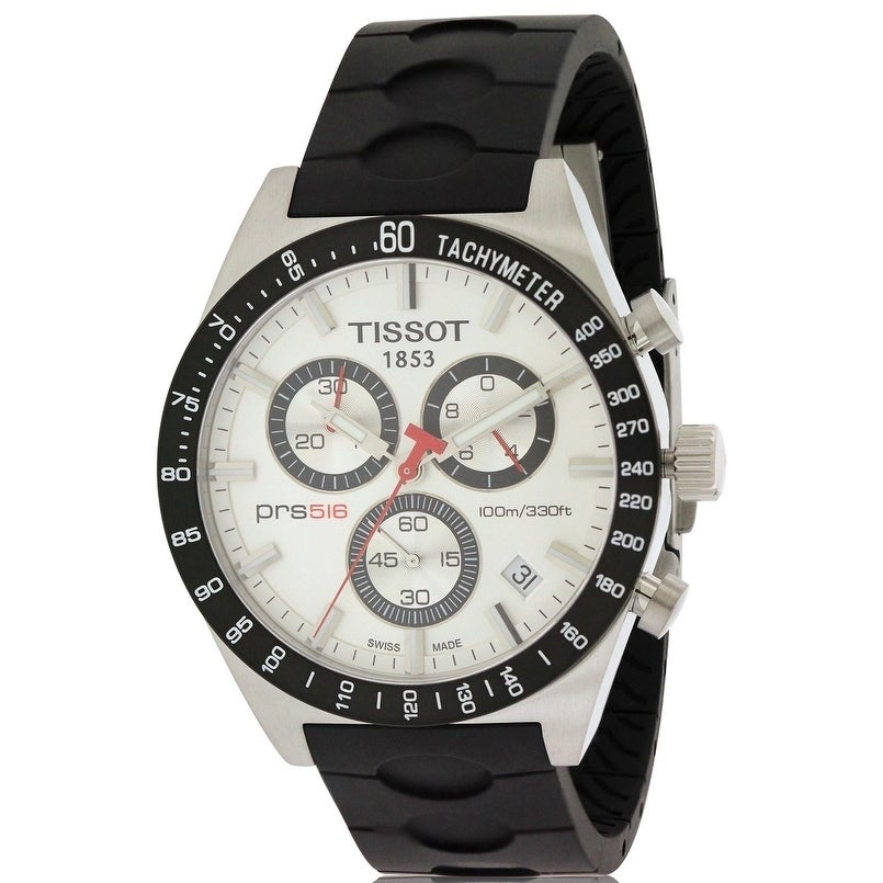 Tissot PRS 516 Chronograph Rubber Mens Watch T04441727031...