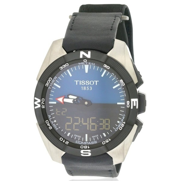 1d56ca3b0f2 Shop Tissot T-Touch Expert Solar Leather Mens Watch T0914204604100 - Free  Shipping Today - Overstock - 17374757