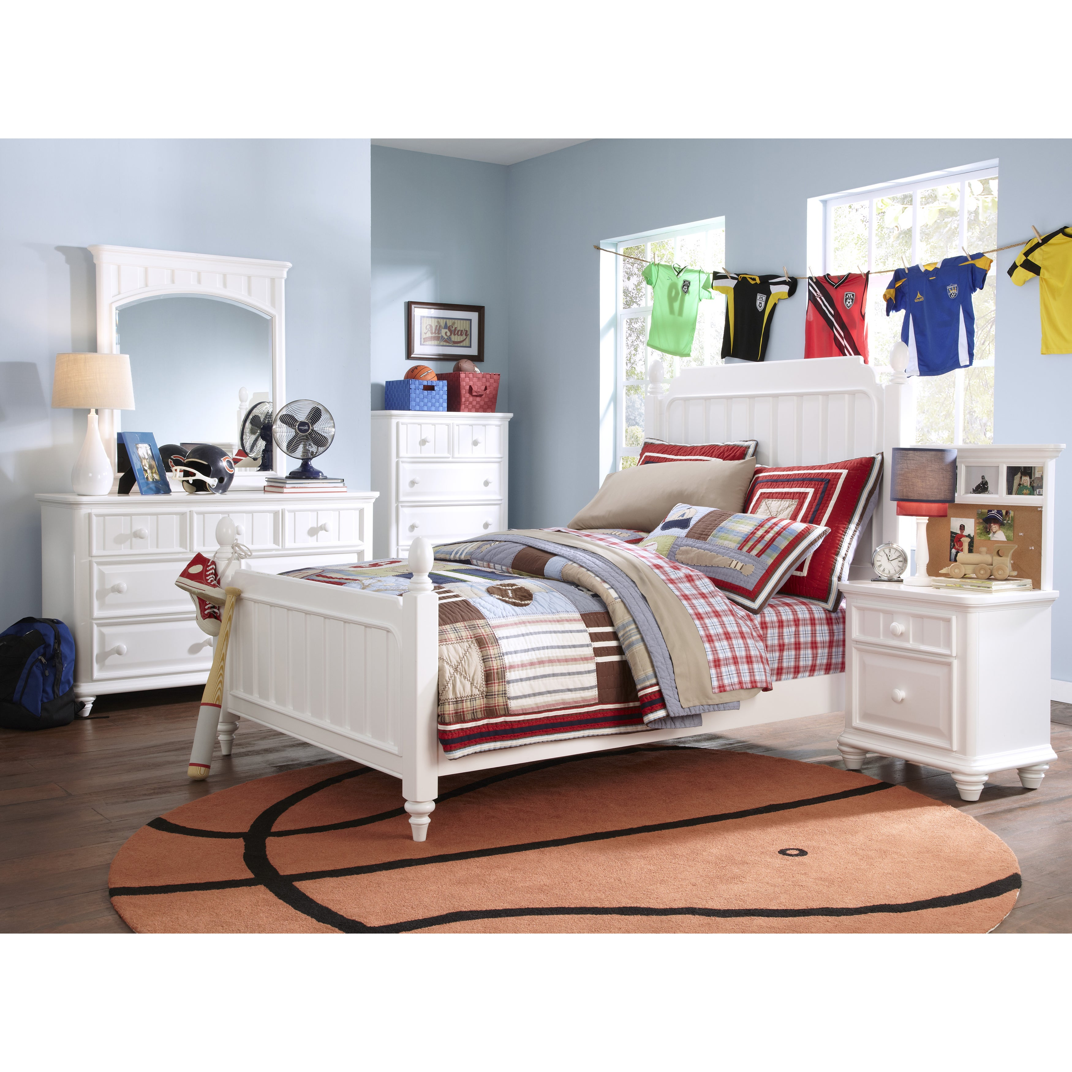Lawrence SummerTime Youth Twin Size Poster Bed (Color: Wh...