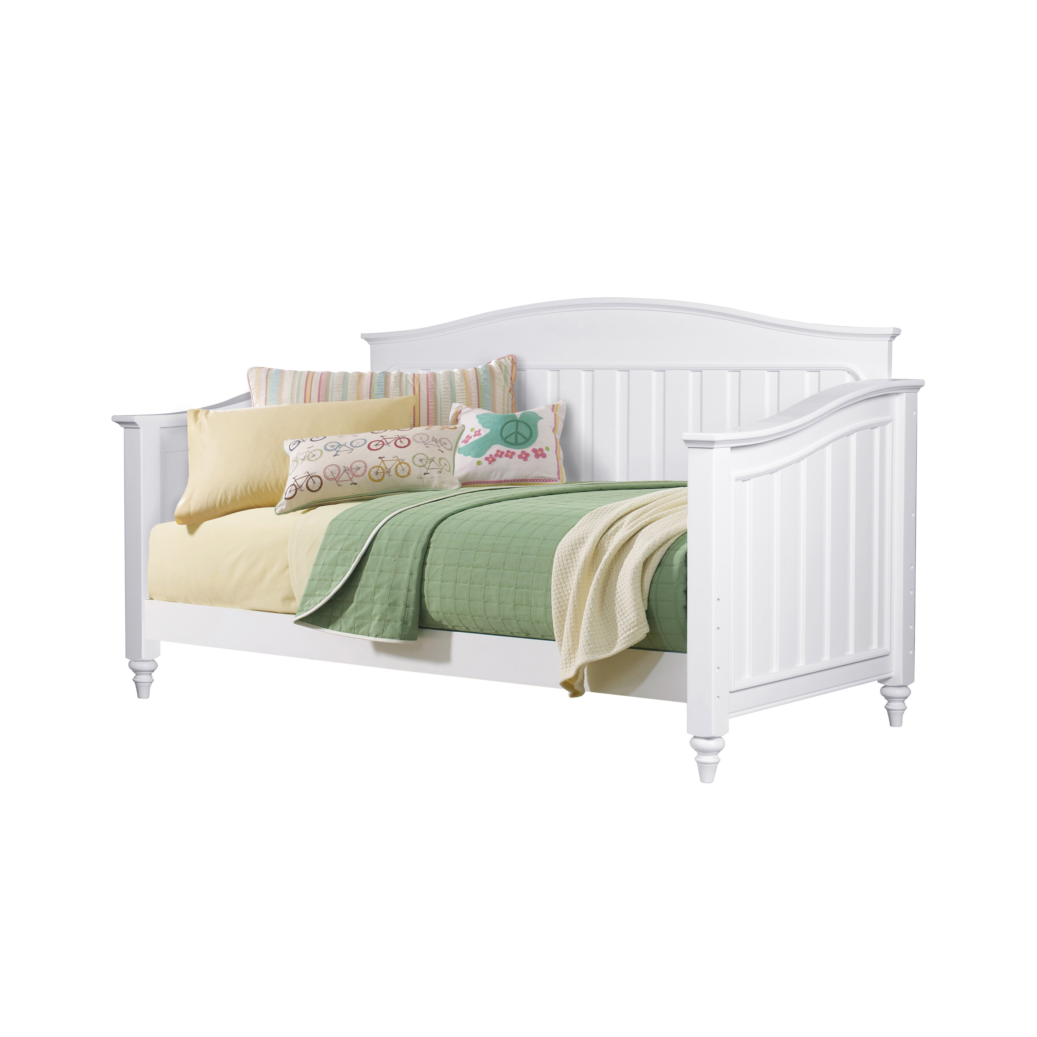 Lawrence Schools Out White Wood Day Bed (Color: White), S...