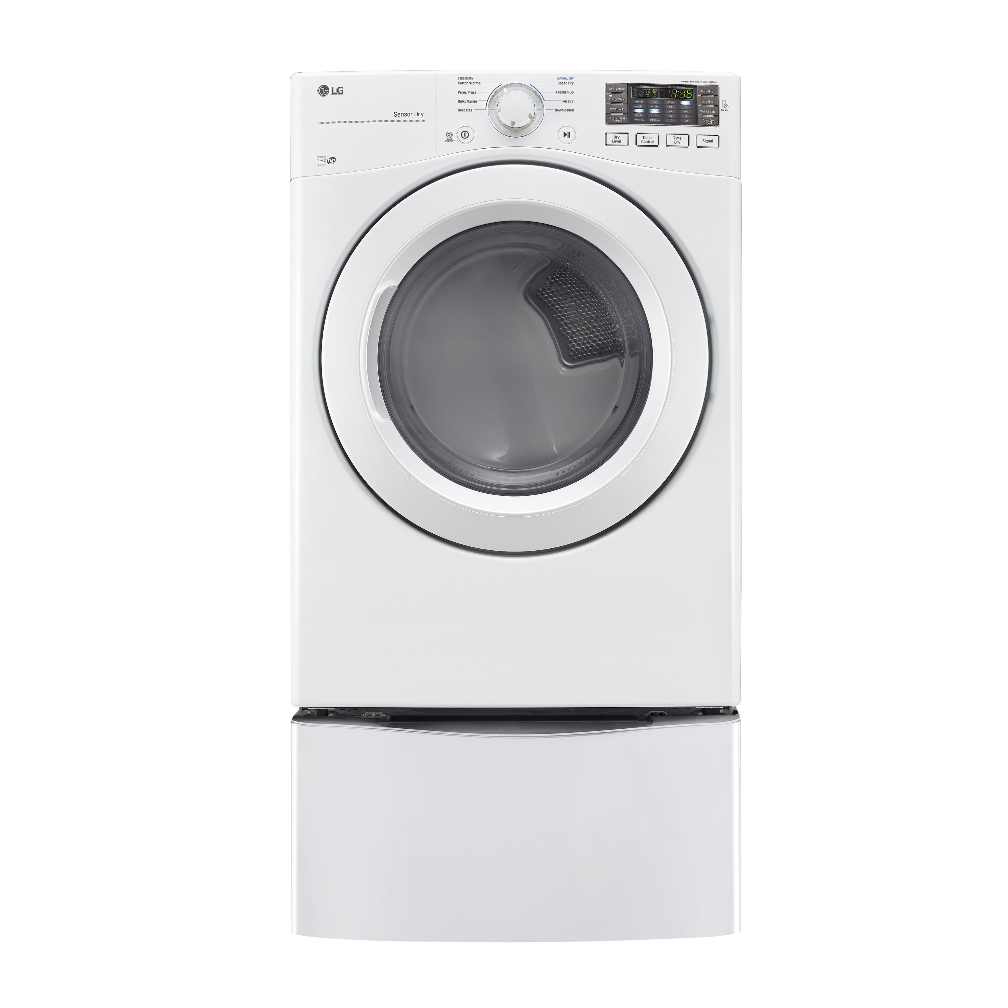 LG DLE3180W 7.4 cu. ft. Ultra Large Capacity Dryer with N...