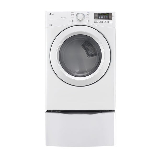 LG DLE3180W 7.4 cu. ft. Ultra Large Capacity Dryer with NFC Tag On Technology in White