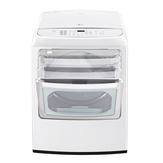 LG DLGY1902WE 7.3 cu. ft. Ultra Large Capacity Front Control Gas Dryer with EasyLoad™ Door in White