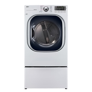 LG DLGX4371W 7.4 cu. ft. Ultra Large Capacity TurboSteam™ Gas Dryer in White