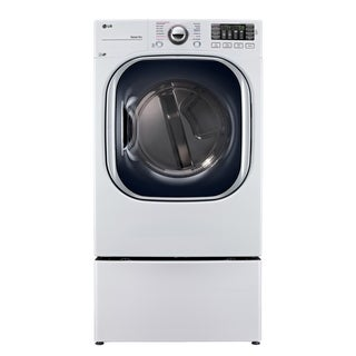 LG DLGX4371W 7.4 cu. ft. Ultra Large Capacity TurboSteam Gas Dryer in White