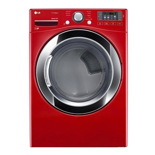 LG DLEX3370R 7.4 cu. ft. Ultra Large Capacity SteamDryer w/ NFC Tag On in Wild Cherry Red