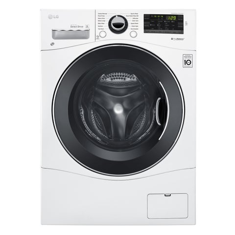 """LG WM1388HW 2.3 cu. ft. Capacity 24"""" Compact Front Load Washer w/ NFC Tag On in White"""