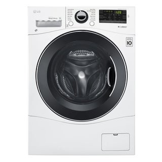 "LG WM1388HW 2.3 cu. ft. Capacity 24"" Compact Front Load Washer w/ NFC Tag On in White"