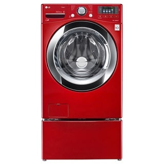 LG WM3670HRA 4.5 cu. ft. Ultra Large Capacity with Steam Technology in Wild Cherry Red