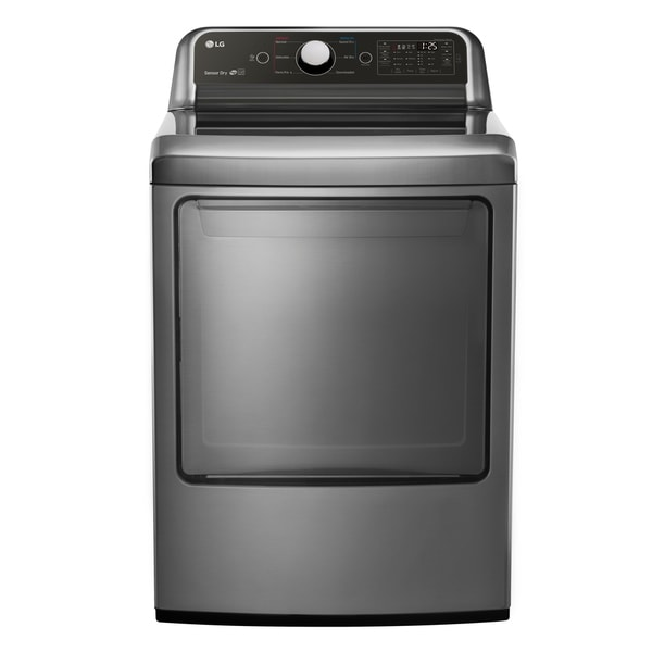 LG DLG7051V 7.3 cu. ft. Super Capacity Gas Dryer with Sensor Dry Technology in Graphite Steel