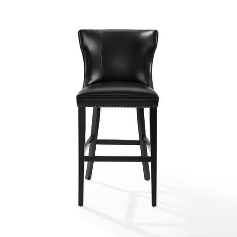 Crosley Furniture Tilson Black Faux Leather Bar Stool
