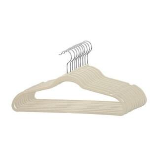 Sunbeam 10-piece Ivory Velvet Hangers