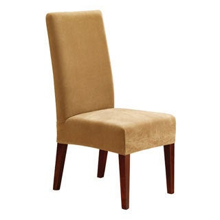 Furniture covers for chairs Wayfair Sure Fit Stretch Pique Short Dining Room Chair Cover Bed Bath Beyond Buy Chair Covers Slipcovers Online At Overstockcom Our Best