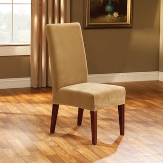 Sure Fit Stretch Pique Short Dining Room Chair Cover (Option: Antique)
