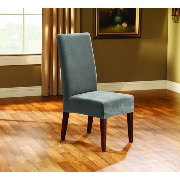 Sure Fit Stretch Pique Short Dining Room Chair Cover - Free ...