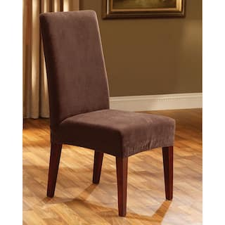 Sure Fit Stretch Pique Short Dining Room Chair Cover More Options Available