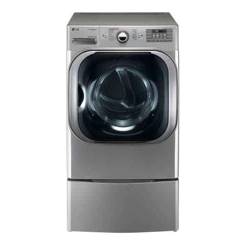 LG DLGX8101V 9.0 cu. ft. Mega Capacity Gas Dryer w/ Steam Technology in Graphite Steel