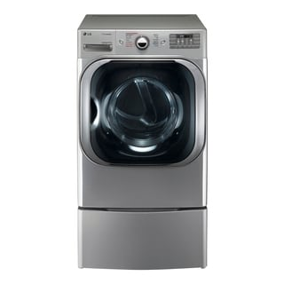 LG DLGX8101V 9.0 cu. ft. Mega Capacity Gas Dryer w/ Steam™ Technology in Graphite Steel