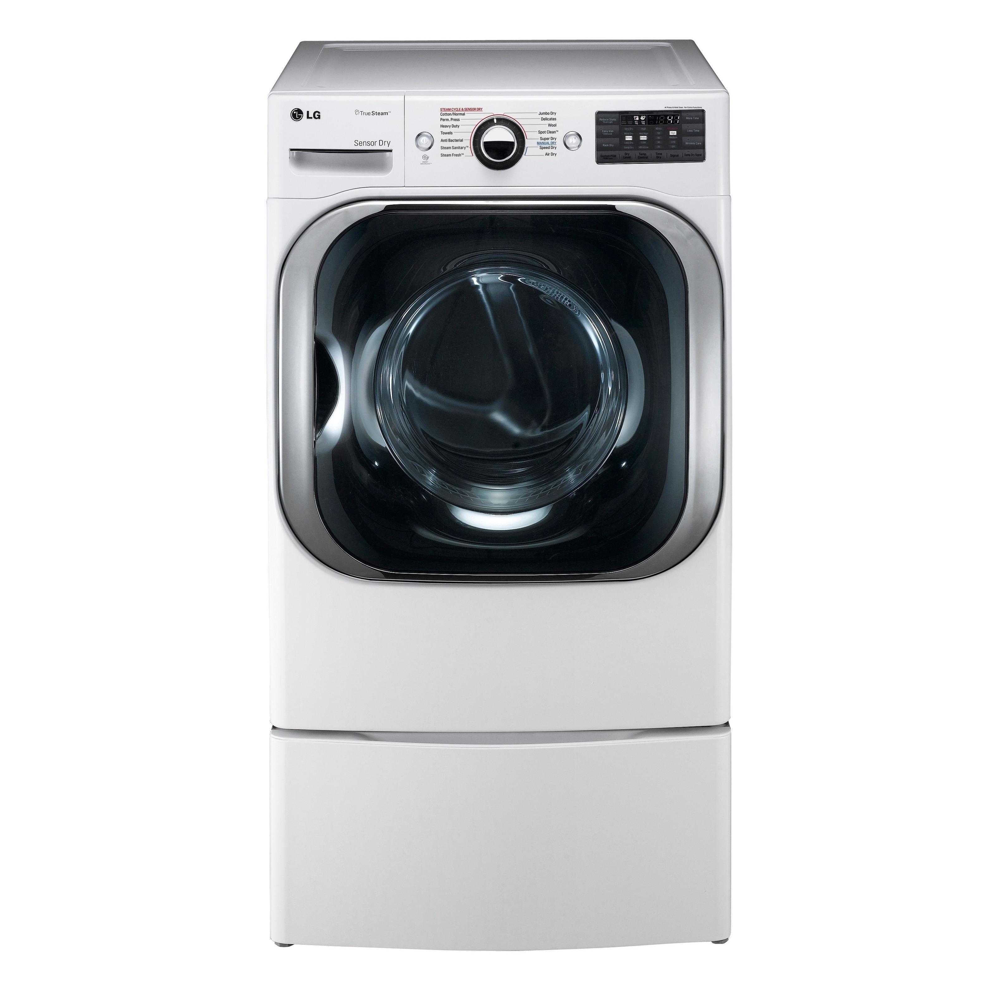 LG DLGX8101W 9.0 cu. ft. Mega Capacity Gas Dryer w/ Steam...