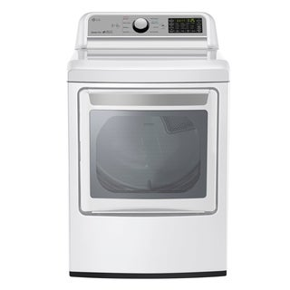 LG DLE7200WE 7.3 cu. ft. Super Capacity Electric Dryer with Sensor Dry Technology in White