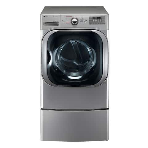 LG DLEX8100V 9.0 cu. ft. Mega Capacity Electric Dryer w/ Steam Technology in Graphite Steel