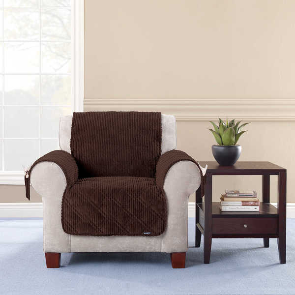 Sure Fit Wide Wale Corduroy Chair Throw