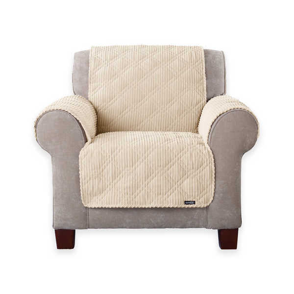 Sure Fit Wide Wale Corduroy Chair Throw   Free Shipping Today    Overstock.com   23615660