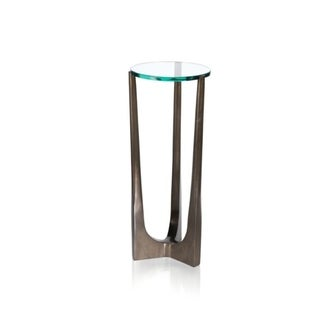 """""""Cortina"""" 21"""" Tall Glass Top Drink Table"""