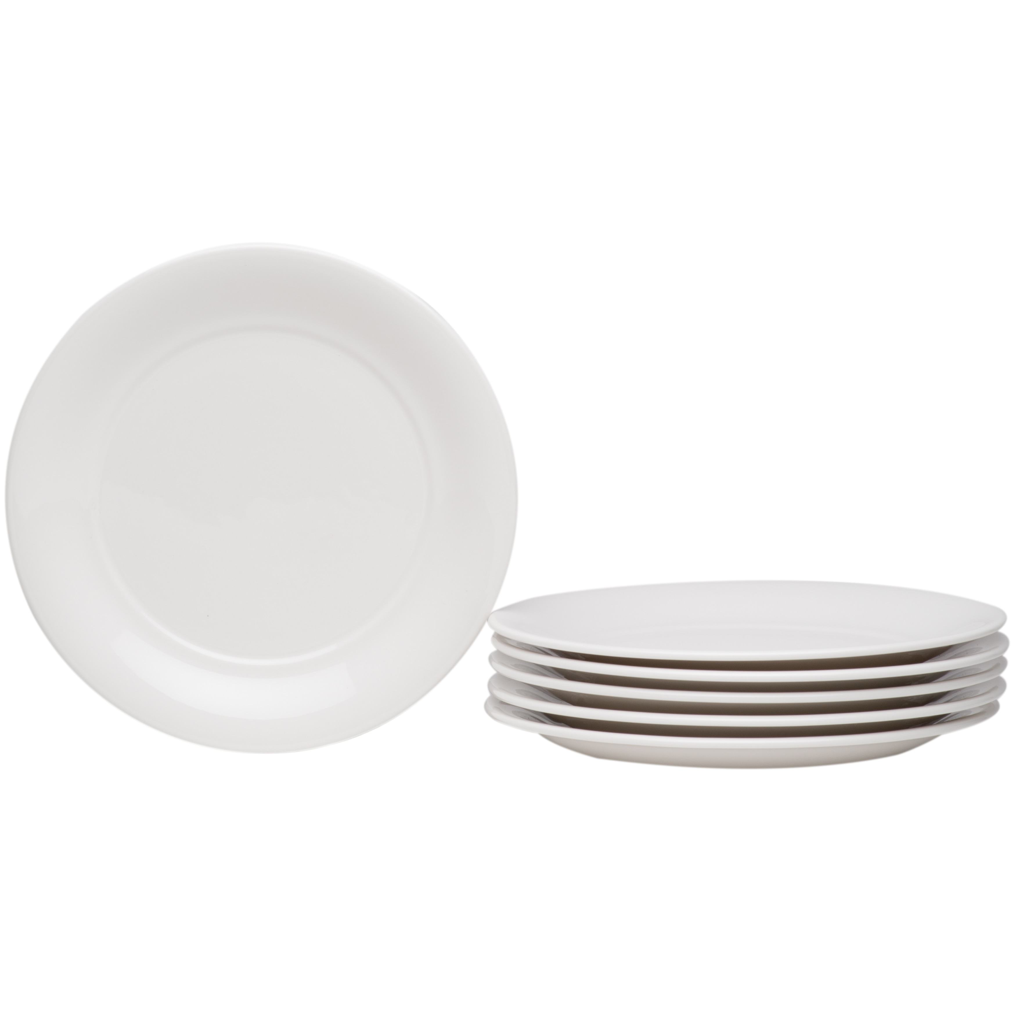 Hospitality White Bread Butter Plate Set Of 6 Overstock 17375028