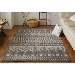 Mohawk Heirloom Mica Blue/Taupe Area Rug - 5' x 8'