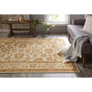 Mohawk Heirloom Seti Blue/Gold Fringeless Area Rug - 5' x 8'