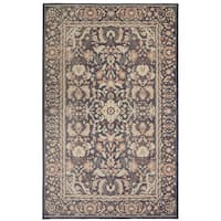 Gracewood Hollow Pazzi Blue Damask Area Rug - 7'6 x 9'6