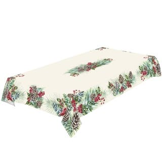 Laural Home Frosty Garland Tablecloth|https://ak1.ostkcdn.com/images/products/17375078/P23615808.jpg?impolicy=medium