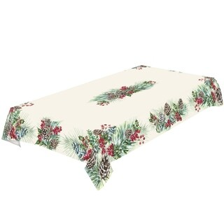 Laural Home Frosty Garland Tablecloth
