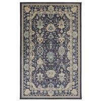 Gracewood Hollow Pennone Blue/Tan Floral Area Rug - 7'6 x 9'6