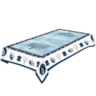 Laural Home Blue Hanukkah Tablecloth
