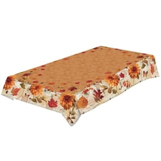 Laural Home Autumn Floral Tablecloth|https://ak1.ostkcdn.com/images/products/17375094/P23615815.jpg?impolicy=medium