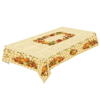 Laural Home Pumpkin Harvest Tablecloth|https://ak1.ostkcdn.com/images/products/17375101/P23615820.jpg?impolicy=medium